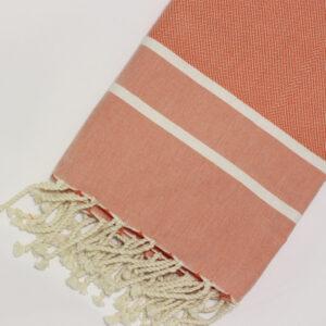 0034-fouta-cotone-telo-mare-chevron-spigato-arancione