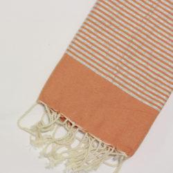 0994-fouta-cotone-telo-mare-chiaro-riga-lurex-argento-arancione