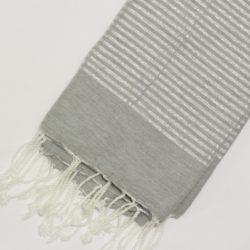 0995-fouta-cotone-telo-mare-riga-lurex-argento-grigio-chiaro
