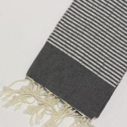 0996-fouta-cotone-telo-mare-riga-lurex-argento-grigio-scuro