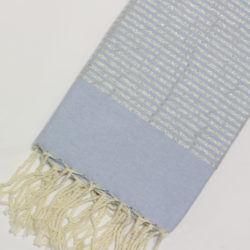 1001-fouta-cotone-telo-mare-azzurro-chiaro-riga-lurex-argento
