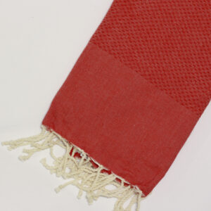 1008-fouta-cotone-telo-mare-nido-d-ape-tinta-unita-rosso-arancio