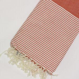 1014-fouta-cotone-telo-mare-nido-d-ape-riga-bianca-arancione