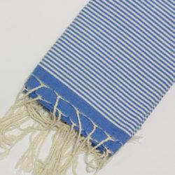 1015-fouta-cotone-telo-mare-nido-d-ape-azzurro-riga-bianca