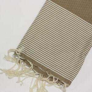 1023-fouta-cotone-telo-mare-nido-d-ape-riga-bianca-marrone