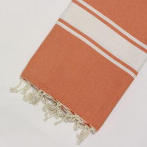 1027-fouta-cotone-telo-mare-riga-bianca-classico-arancione