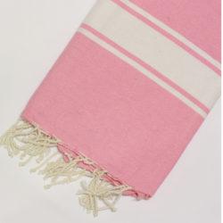 1035-fouta-cotone-telo-mare-riga-bianca-classico-rosa-fluo