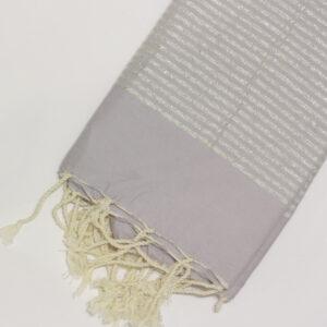 1044-fouta-cotone-telo-mare-chiaro-riga-lurex-argento-malva