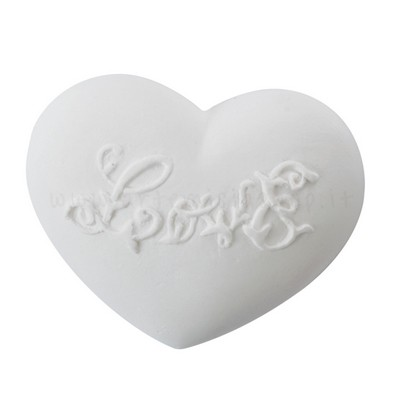 """decorazione in gesso profumato a forma di cuore con scritta """"Love"""" - Mathilde M"""