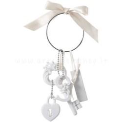 decorazione in gesso profumato a forma di chiavi con lucchetto a forma di cuore - ideale per appendere - Mathilde M