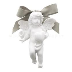 decorazione in gesso profumato a forma di angioletto con cuoricino - Mathilde M