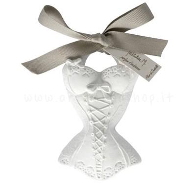 decorazione in gesso profumato a forma di bustino - ideale da appendere - Mathilde M