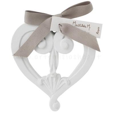 decorazione in gesso profumato a forma di cuore traforato - ideale da appendere - Mathilde M