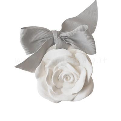 decorazione in gesso profumato a forma di rosa - ideale da appendere - Mathilde M
