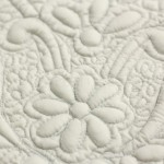 dettaglio tappeto bagno boutis grigio perla