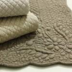 dettaglio tappeto bagno boutis tortora
