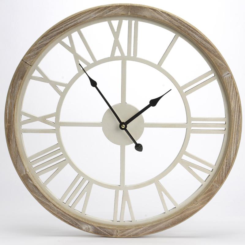 Orologio perforato bianco legno artemisia for Portaritratti legno