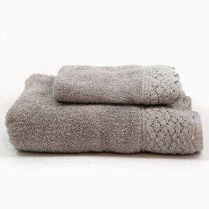 set-asciugamani-viso-aspite-spugna-pizzo-marinette-saint-tropez-grigio-gris