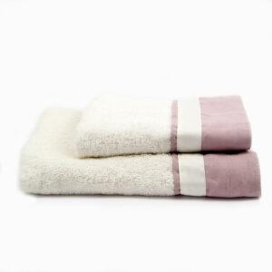 set-asciugamani-viso-ospite-spugna-lino-bianco-rosa-blanc-blancmariclo2