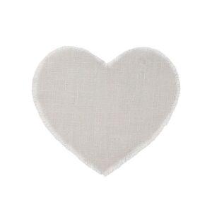 sottopiatto cuore lino