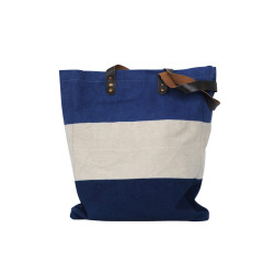 borsa-pelle-canvas-righe-blu