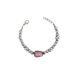 bracciale-pietra-rosa-metallo