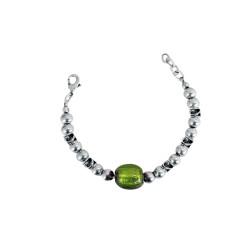 bracciale-pietra-verde-metallo
