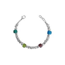 bracciale-pietre-opache-multicolor-metallo