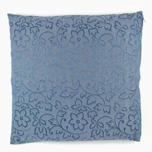 cuscino-fiori-cotone-raso-blu-40x40