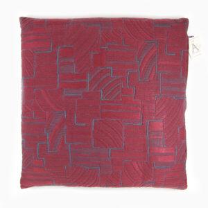 cuscino-geometria-bordeaux-blu-cotone-40x40