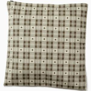 cuscino-quadretti-cuori-beige-tortora-cotone-40x40