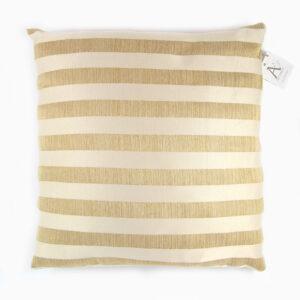 cuscino-righe-oro-senape-panna-cotone-40x40