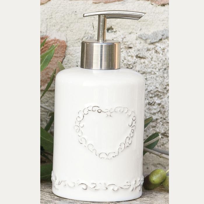 dosatore-erogatore-sapone-liquido-bagno-cuore-bianco-ceramica ...