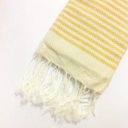fouta-righe-telo-mare-cotone-giallo