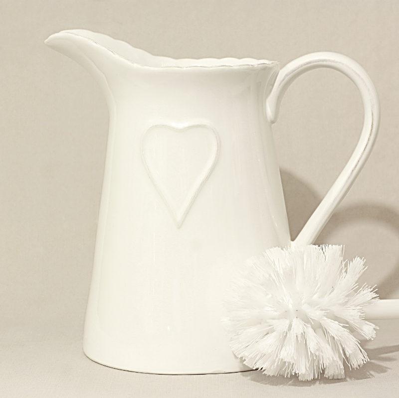 Porta scopino con cuore allungato bianco artemisia - Scopino bagno ikea ...
