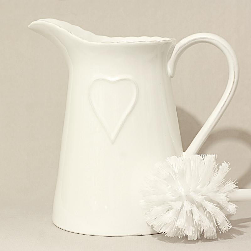Porta scopino con cuore allungato bianco artemisia - Porta scopino bagno ikea ...