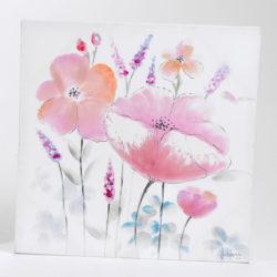 quadro-papavero-60x60-rosa-mod-1