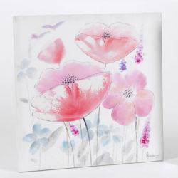 quadro-papavero-60x60-rosa-mod-2