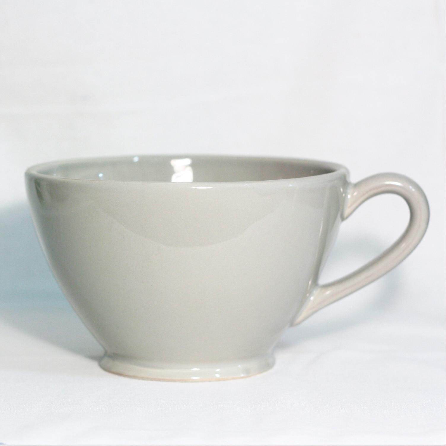 Tazza latte grande grigio artemisia for Tazza bagno