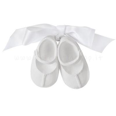 decorazione in gesso profumato a forma di scarpine da bimba con cinturino - ideale da appendere - Mathilde M