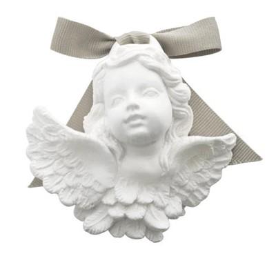 decorazione in gesso profumato a forma di testa d'angelo - ideale da appendere - Mathilde M