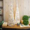 Albero Natale LED VIMINI/NEVE cono 80cm