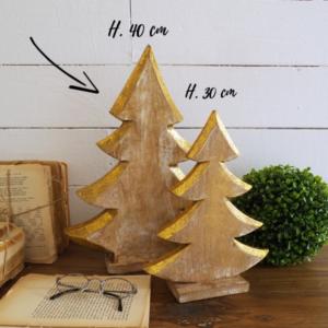 albero natale in legno