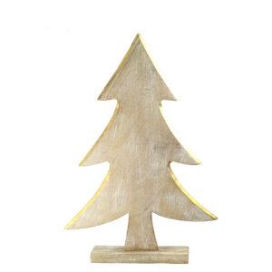 Albero Natale LEGNO/ORO 45cm