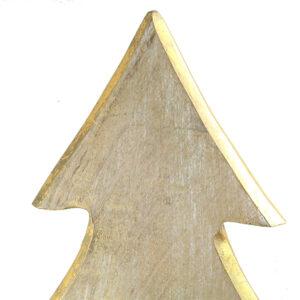Albero Natale LEGNO/ORO 55cm