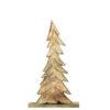 Albero Natale LEGNO/VERDE con lucine LED 52cm