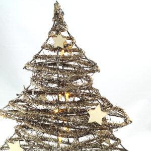 Albero Natale LED brillantini e stelle
