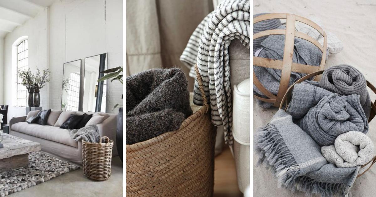 come mettere i plaid sul divano foto soggiorno con plaid dentro a una cesta