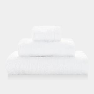 Asciugamano Ribbon - Set viso/ospite spugna - BIANCO
