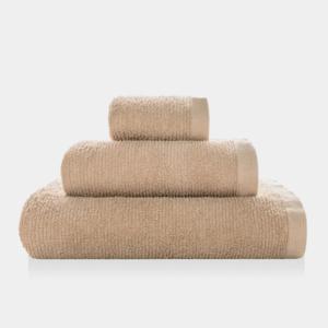 Asciugamano Ribbon - Set viso/ospite spugna - LINEN
